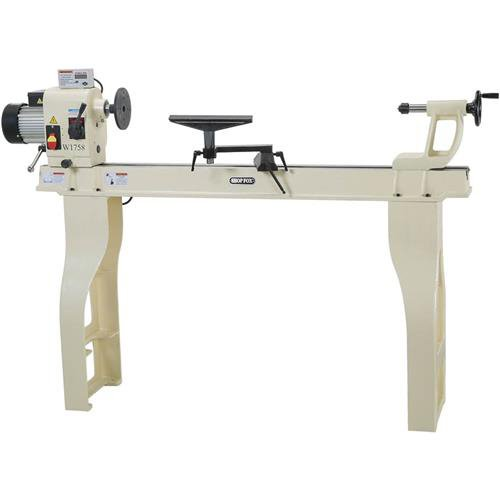 """SHOP FOX® W1758 16"""" X 46"""" Wood Lathe with Stand and DRO"""
