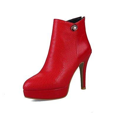 CN35 primavera botas de Zapatos botas Rhinestone talón UK3 Zipper Fashion 5 mujer botines Materiales 5 EU36 Botines Toe US5 comodidad personalizados RTRY Stiletto otoño señaló wASqpXpv