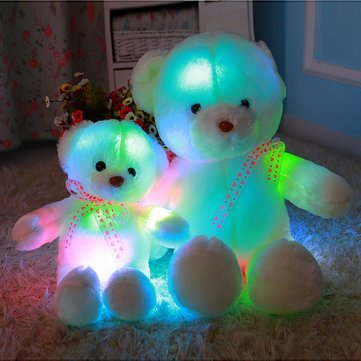 Guided Assume Rest - 50cm Colorful Creative Glow Led Light Plush Bear Cushion Stuffed Doll Throw Pillow Toy Friend Family Gift - Birth Conducted Carry Light-Emitting Diode Endure - (Glowing Animal Flashlight)