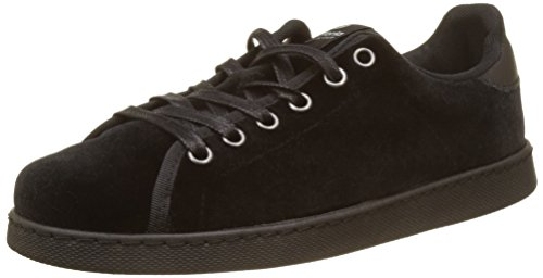 Terciopelo Deportivo negro Baskets Victoria Femme Noir Basses 6RqwxS