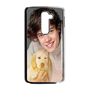 Harry Styles Holding The Puppy Design Plastic Case Cover For LG G2
