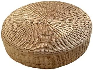 Amazon.com: 40cm Tatami Cushion Round Straw Weave Handmade ...