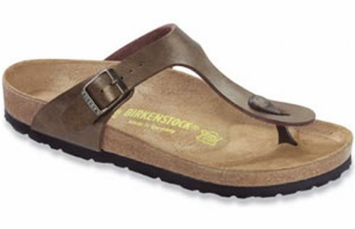 Birkenstock Women's GIzeh Thong Sandal, Golden Brown, 38 N EU/7-7.5 2A(N) US -