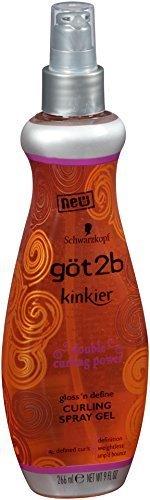 Gel Curling Shine Weightless Curl - Got 2B Kinkier Curling Spray Gel 9 oz. by GOT 2B