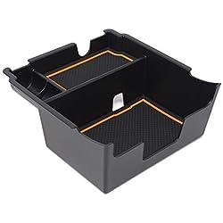 Custom Fit Center Console Armrest Organizer Accessories for 2018 2019 Subaru Crosstrek and Impreza (Orange Trim)
