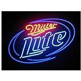 New Miller Lite Handcraft Real Glass Beer Bar Display Neon Light Signs 19x15