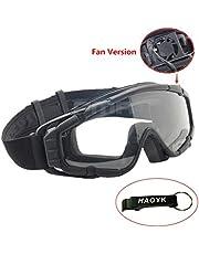 haoYK Fan Version Kühler Airsoft Glas Regulator Brille Ski Snowboard Bike Sport