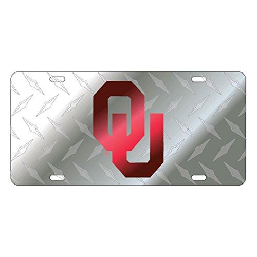 - Craftique Oklahoma Laser_Tag Laser OU Diamond Back Satin TA