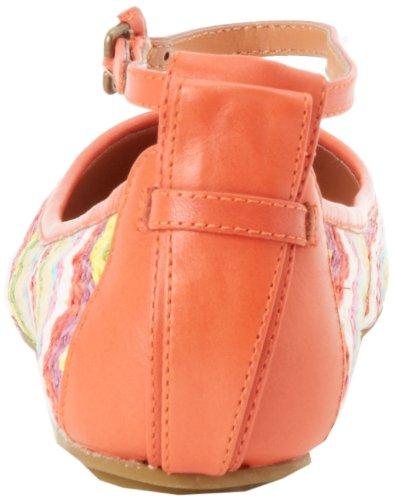 Luksus Opprører Kvinners Baxter Ankel-stropp Flat Blodappelsin Multi Ecru