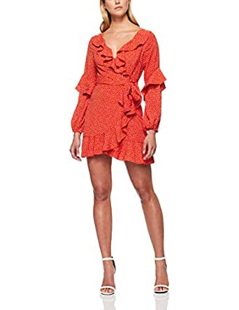Finders Keepers Women's Solar Dress, Red Polka Dot, Extra Small
