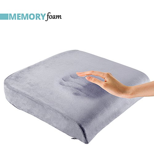 - ComfySure Extra Large Seat Cushion Pad for Bariatric Overweight Users - Medium-Firm Memory Foam Chair Support Pillow for Wheelchair, Office & Car (Grey)