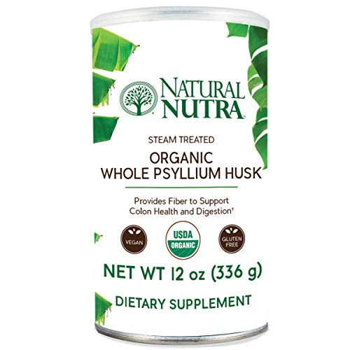Natural Nutra Organic Whole Psyllium Husk Powder, Soluble and Insoluble Dietary Fiber, 12 oz, 81 (Soluble And Insoluble Fiber)