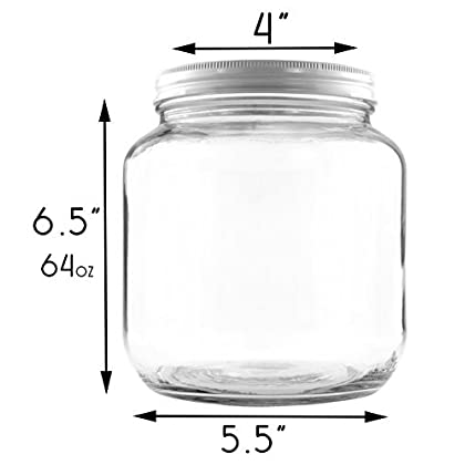 7ae9876ad55 Clear Half Gallon Wide-mouth Glass Jars (2-Pack)