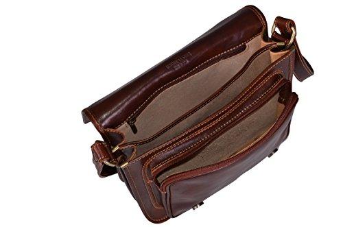 Cuir bandoulière Sac Bag Satchel Italien Moyen Véritable en xwC7H