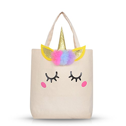 Unicorn Gifts for Girls Kids Women,Unicorn Bag Canvas Tote Bag for Shopping,Beach,School,Unicorn Birthday Gifts ()