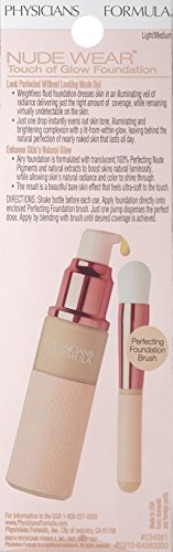 Physicians Formula Nude Wear Glowing Nude Foundation, Light/Medium, 1 Fluid Ounce