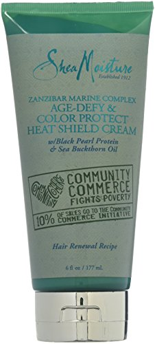 Shea Moisture Zanzibar Marine Complex Age-Defy & Color Protect Heat Shield Cream for Unisex, 6 Ounce - Marine Moisture