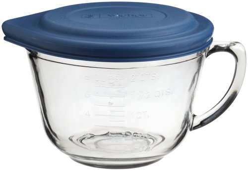 Anchor Hocking 2 Quart Glass Batter Bowl With Lid