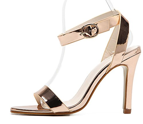 XDGG Chaussures Été Sandales Stiletto Confortable Nouveaux hauts Heel talons à gold Femmes mariage de IYwvxqr5v