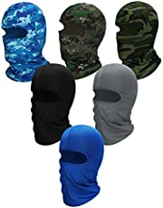 6 Pieces Balaclava Mask Ice Silk UV Protection Full-face Mask for Women and Men Outdoor Sports (Color Set 4)