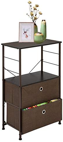 Road.Ahead Nightstand 2-Drawer Shelf Storage