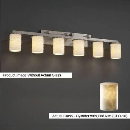 Justice Design Group CLD-8786-10-NCKL Clouds Collection Dakota 6-Light Bath Bar Light Fixture