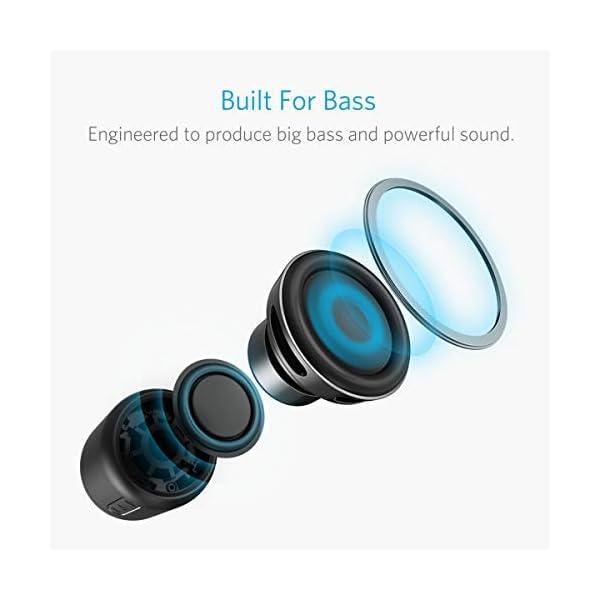 Anker SoundCore mini Enceinte Bluetooth Portable - Haut Parleur avec Autonomie de 15 Heures, Portée Bluetooth de 20 Mètres, Port Micro SD, Micro et Basses Renforcées 2