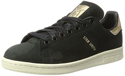 Stan Leaf Sneaker Golden 7 and 5 Originals Women's Nubuck Black UK US 5 Black Smith Originals adidas tBqw1A