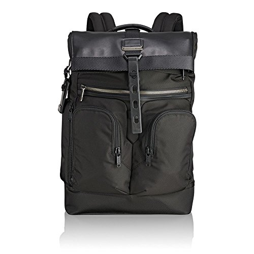 TUMI - Alpha Bravo London Roll Top Laptop Backpack - 15 Inch Computer Bag for Men and Women - Black