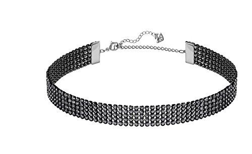 Swarovski Choker - Swarovski Fit Necklace Choker, Black, Ruthenium Plating, 5355185