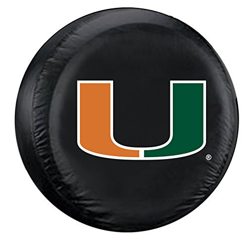 NCAA Miami Hurricanes Tire Cover, Large (University Tire Cover)