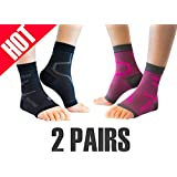 Thirty 48 Plantar Fasciitis Compression Socks(1 2 Pairs), 20-30 mmHg Foot Compression Sleeves Ankle/Heel Support, Increase Blood Circulation, Relieve Arch Pain, Reduce Foot Swelling