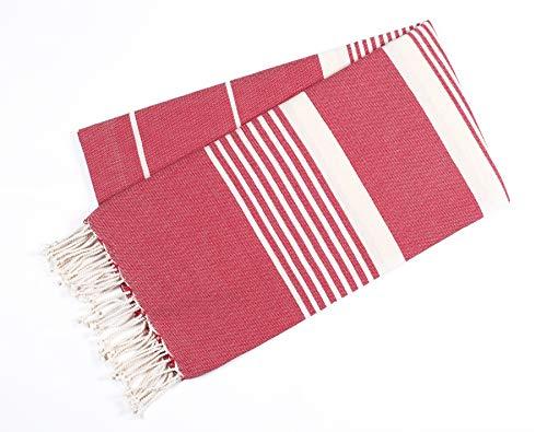 Cotton Pestimal Beach Fouta towel-39x78- Maroon- Design Juliana