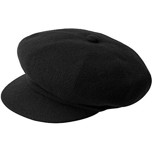 Kangol Men's Wool Spitfire Cap, Black, XXL