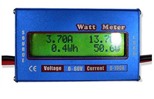 DSstyles Digital Wattmeter High-Accuracy Power Meter RC Watt Meter Checker Balance Voltage Battery Power Analyzer - Meter Solar Power