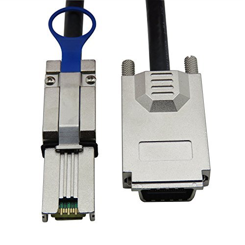 CABLEDECONN Infiniband SFF-8470 SAS34 to Mini SAS26P SFF-8088 Data Transfer Cable 2M