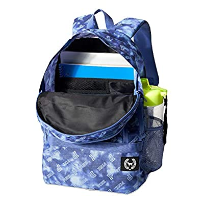 Victoria's Secret Pink Collegiate Backpack Tie Dye Logo Blue School Bag NWT: Clothing