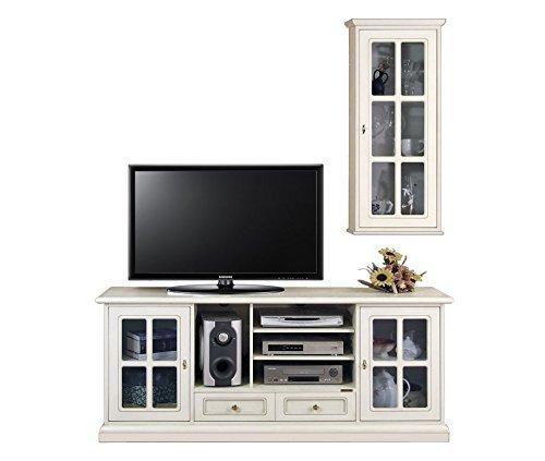 Composizione per soggiorno con porta tv e vetrina pensile: Amazon.it ...