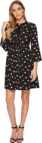 Romeo & Juliet Couture Women's Star Print Swing Dress Black Small (Dresses Juliet Romeo Couture)