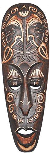 Wand Masque Senge sculpté et peint à la main 50 cm
