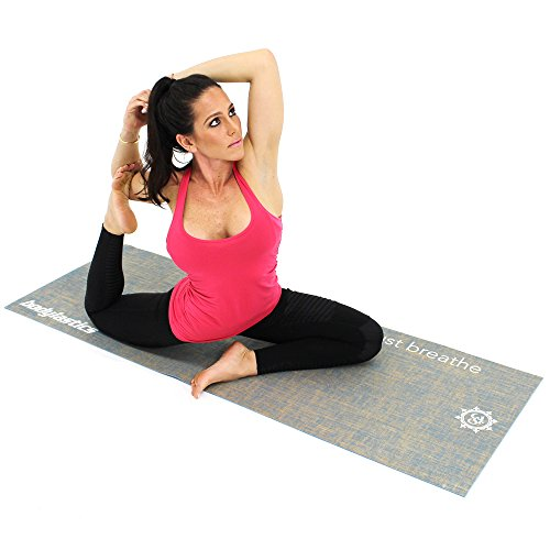 Yogaaddict Yoga Mat Towel And Hand Towel Combo Set: The Combo Yoga Mat. Luxurious, Non-slip, Mat/Towel