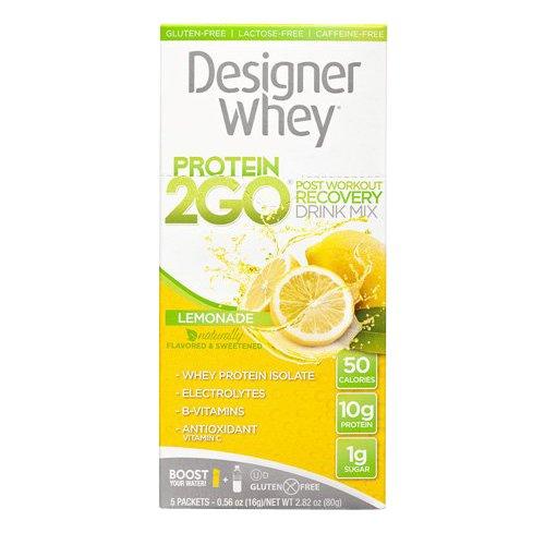 Designer Whey Protein To Go paquets, Lemonade, 5 comte
