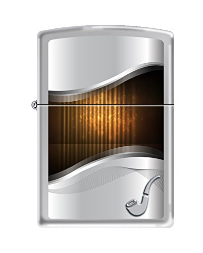 (Zippo Wood Design High Polish Chrome Pipe Lighter)