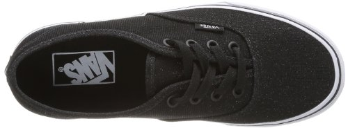 Vans U AUTHENTIC  (SHIMMER) BLACK - Zapatillas de lona unisex Negro (Noir (Black))