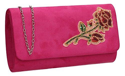 Taille Unique femme pour Rose Clutch Fuchsia Bag Swankyswans Pochette OwXPXq