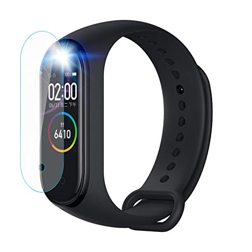 (Eoeth Tempered with Hole Screen Protector Screen Condensate Film for Xiaomi Mi Band 4 Edge Tempered Glass Compatible Anti-Scratch Matte Screen Protector (3 Pieces))