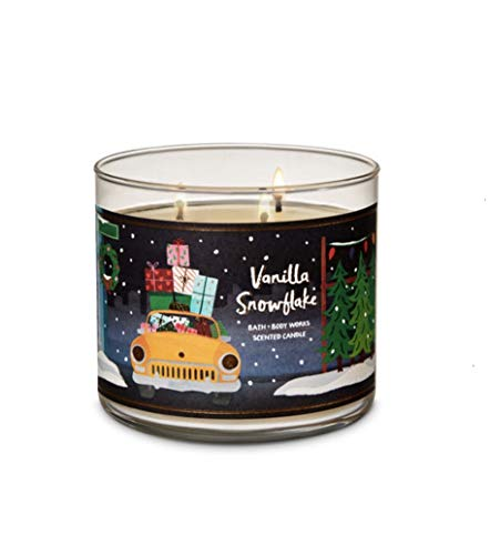 Bath & Body Works 3-Wick Candle in Vanilla Snowflake (2018) -
