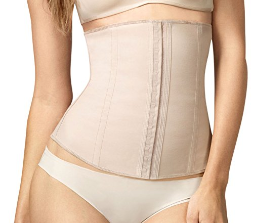 Squeem Perfect Waist Firm Compression Waist Cincher Shapewear, Cotton & Rubber, Beige, Medium