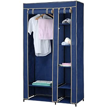 Amazon Sunbeam Home Basics 40 Inch Closet With Shelving Blue