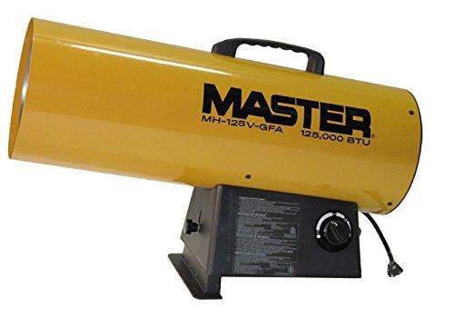 Master MH-125V-GFA-A LP Forced Air Heater, Variable Output, 125,000 BTU
